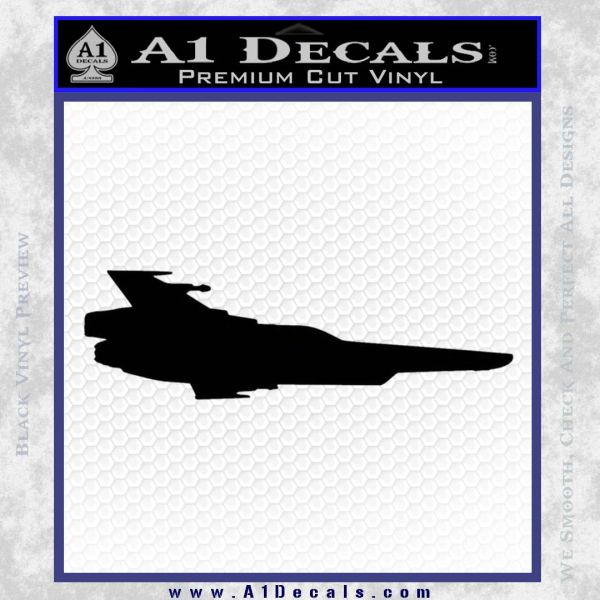 BSG Colonial Viper MK VII Side View Decal Sticker Battle Star Galactica Black Vinyl