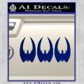 BSG Cylon Raider 3 Pack Decal Sticker Battle Star Galactica Blue Vinyl 120x120