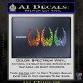 BSG Cylon Raider 3 Pack Decal Sticker Battle Star Galactica Glitter Sparkle 120x120