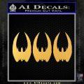 BSG Cylon Raider 3 Pack Decal Sticker Battle Star Galactica Gold Vinyl 120x120