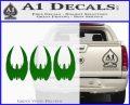 BSG Cylon Raider 3 Pack Decal Sticker Battle Star Galactica Green Vinyl Logo 120x97