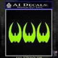 BSG Cylon Raider 3 Pack Decal Sticker Battle Star Galactica Lime Green Vinyl 120x120