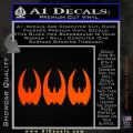 BSG Cylon Raider 3 Pack Decal Sticker Battle Star Galactica Orange Emblem 120x120