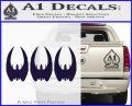 BSG Cylon Raider 3 Pack Decal Sticker Battle Star Galactica PurpleEmblem Logo 120x97