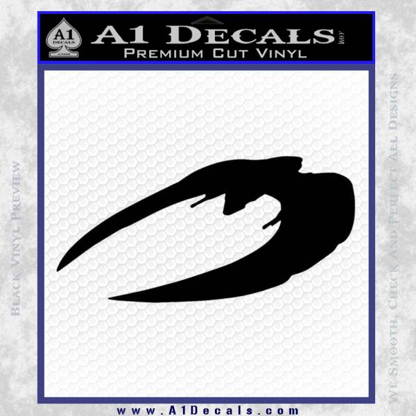 BSG Cylon Raider New Series Alternate Decal Sticker Battle Star Galactica Black Vinyl