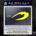 BSG Cylon Raider New Series Alternate Decal Sticker Battle Star Galactica Yellow Laptop 120x120