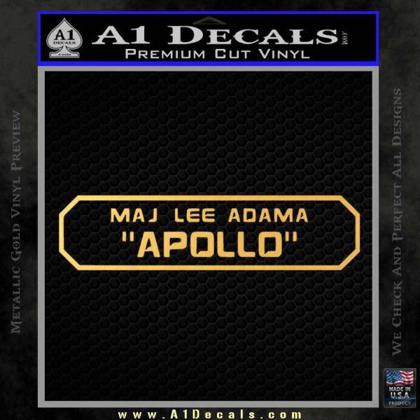 BSG Viper Nameplate Apollo Decal Sticker Battle Star Galactica Gold Vinyl