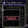 BSG Viper Nameplate Apollo Decal Sticker Battle Star Galactica Pink Emblem 120x120