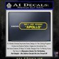 BSG Viper Nameplate Apollo Decal Sticker Battle Star Galactica Yellow Laptop 120x120