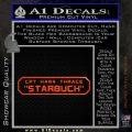BSG Viper Nameplate Starbuck Decal Sticker Battle Star Galactica Orange Emblem 120x120