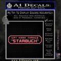 BSG Viper Nameplate Starbuck Decal Sticker Battle Star Galactica Pink Emblem 120x120