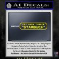 BSG Viper Nameplate Starbuck Decal Sticker Battle Star Galactica Yellow Laptop 120x120