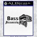 Bass Assassin Fishing Decal Sticker Black Vinyl 120x120