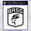 Bass Fishing Decal Sticker Emblem Black Vinyl 120x120