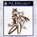 Bat Girl Hot Batgirl Decal Sticker BROWN Vinyl 120x120
