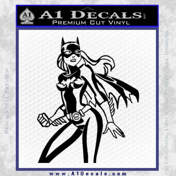 Bat Girl Hot Batgirl Decal Sticker Black Vinyl