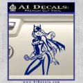 Bat Girl Hot Batgirl Decal Sticker Blue Vinyl 120x120