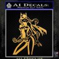 Bat Girl Hot Batgirl Decal Sticker Gold Vinyl 120x120