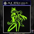 Bat Girl Hot Batgirl Decal Sticker Lime Green Vinyl 120x120