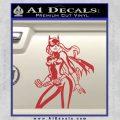 Bat Girl Hot Batgirl Decal Sticker Red 120x120