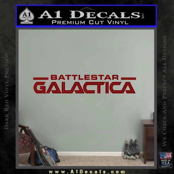 Battlestar Galactica Decal Sticker Wide DRD Vinyl
