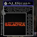 Battlestar Galactica Decal Sticker Wide Orange Emblem 120x120