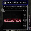 Battlestar Galactica Decal Sticker Wide Pink Emblem 120x120