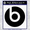 Beats By Dre Decal Sticker Black Vinyl 120x120