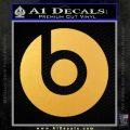 Beats By Dre Decal Sticker Gold Vinyl 120x120