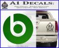 Beats By Dre Decal Sticker Green Vinyl Logo 120x97