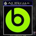 Beats By Dre Decal Sticker Lime Green Vinyl 120x120