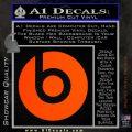 Beats By Dre Decal Sticker Orange Emblem 120x120
