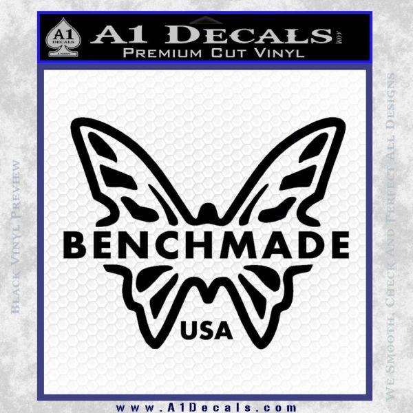 Benchmade Knives Butterfly D1 Decal Sticker Black Vinyl