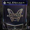 Benchmade Knives Butterfly D1 Decal Sticker Carbon FIber Chrome Vinyl 120x120