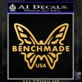 Benchmade Knives Butterfly D1 Decal Sticker Gold Vinyl 120x120