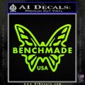 Benchmade Knives Butterfly D1 Decal Sticker Lime Green Vinyl 120x120