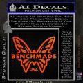 Benchmade Knives Butterfly D1 Decal Sticker Orange Emblem 120x120