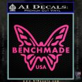 Benchmade Knives Butterfly D1 Decal Sticker Pink Hot Vinyl 120x120