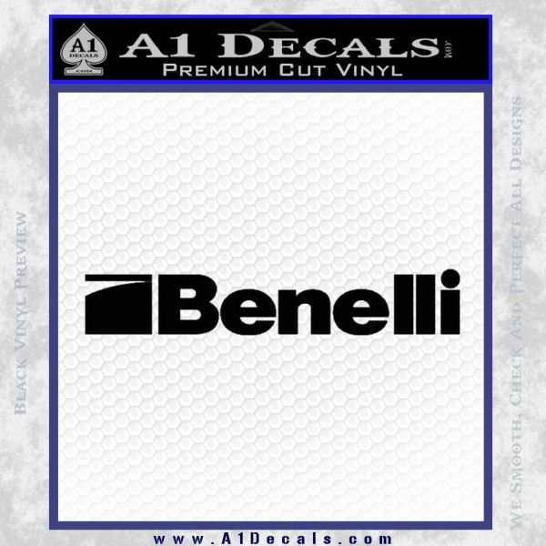 Benelli Firearms Decal Sticker Black Vinyl