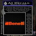 Benelli Firearms Decal Sticker Orange Emblem 120x120