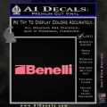 Benelli Firearms Decal Sticker Pink Emblem 120x120
