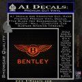 Bently Motors Stacked Decal Sticker Orange Emblem 120x120