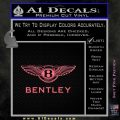 Bently Motors Stacked Decal Sticker Pink Emblem 120x120
