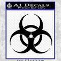 Bio Hazard Decal Sticker Black DO Vinyl Black 120x120
