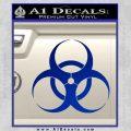 Bio Hazard Decal Sticker DO Blue Vinyl Black 120x120