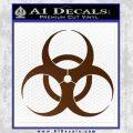 Bio Hazard Decal Sticker DO Brown Vinyl Black 120x120