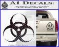 Bio Hazard Decal Sticker DO CFB Vinyl Black 120x97