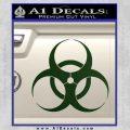 Bio Hazard Decal Sticker DO Dark Green Vinyl Black 120x120