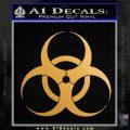 Bio Hazard Decal Sticker DO Gold Metallic Vinyl Black 120x120