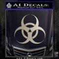 Bio Hazard Decal Sticker DO Metallic Silver Vinyl Black 120x120